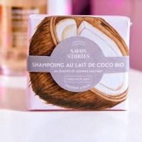 shampoing au lait coco savon stories